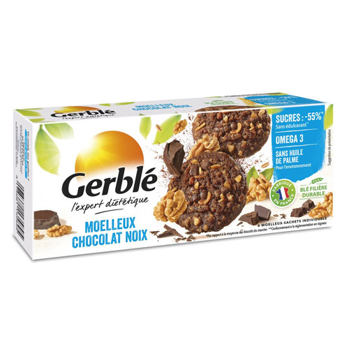 GERBLE Moelleux chocolate & Walnut cakes