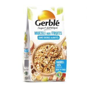GERBLE NO ADDED SUGAR Fruit muesli